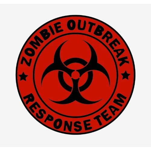 Zombie outbreak response team red sticker Vinyl Decal 5 x 5