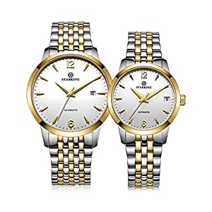 Starking Men's & Women's AM/L0194 Two-tone Gold Silver Automatic Couple Watches