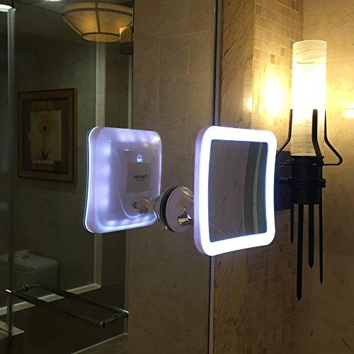 Brilliant LED Illuminated Mirror Rectangular Bathroom Battery Powered Light Up