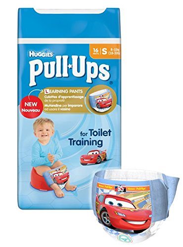 Huggies Pull Ups - Mutandine di apprendimento per bambino, Taglia 4 (8-15 kg), 3 confezioni da 16 pz.