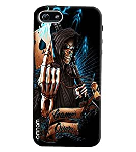 Omnam Skelton With Cards Having Game Over Printed Designer Back Cover Case For Apple iPhone 5/5s