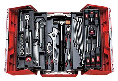KTC (京都機械工具) 9.5mm (3/8インチ) 工具セット (両開きプラハードケース) 53点組 SK3536P