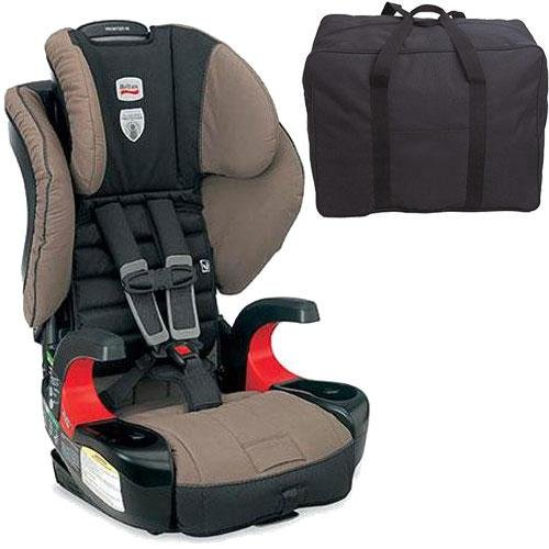 Britax Frontier 90 Combination Harness-2-Booster Seat - Desert Palm With A Car Seat Travel Bag