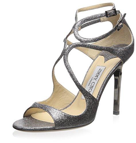 jimmy-choo-womens-lang-sandal-silver-glittered-375-m-eu-75-m-us