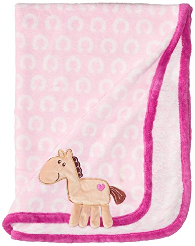 Hudson Baby Coral Fleece 3D Animal Blanket, Pink (Discontinued by Manufacturer)