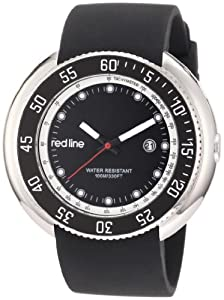 red line Men's 50069-01 Driver Black Dial Black Silicone Watch