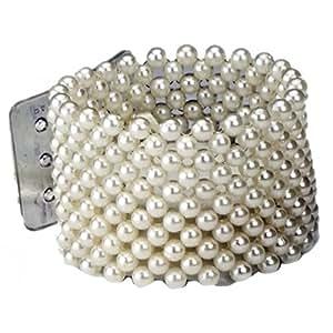 Amazon.com: Corsage Wristlet Bracelet in Champagne Pearl: Jewelry