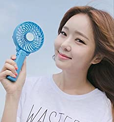 Mini Portable Fan Rechargeable Hand Multifunctional Fan Handgrip USB Fan with Battery Foldable Outdoor Fan Cooler with 18650 Rechargeable Battery