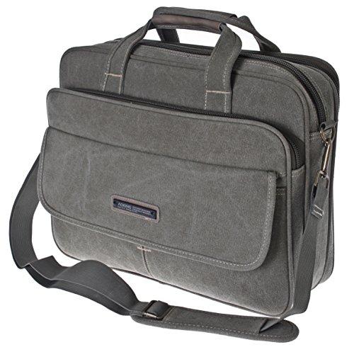 Borsa per PC portatile, a 38,1 cm, Messenger Bag, al lavoro o in borsa, XXL, borsa a Spalla, borsa a tracolla, custodia, orizzontale, manico in legno di ulivo, da uomo