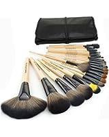 1 Set(24 pezzi) Pennelli Cosmetico Professionale Naturale per Ombretto Trucco