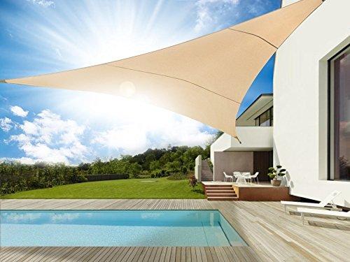 GreeenBlue - Toldo para jardín Vela de sombra triangulo UV 5 x 5 x 5 metros Impermeable