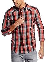 Lee Camisa Hombre (Gris / Rojo)