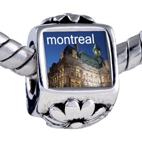 Pugster Bead Montreal Photo Flower European Charm Bead Fits Pandora Bracelet