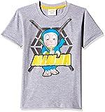 Ninja Hattori Boys' T-Shirt (HST-2128_Grey_11 - 12 years)