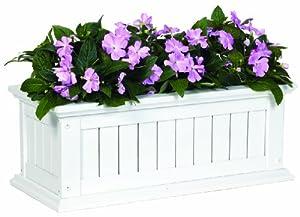 DMC Products Nantucket 24-Inch Solid Wood Window Box, Hunter Green