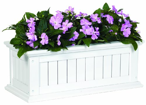DMC Products Nantucket 36-Inch Solid Wood Window Box, Black