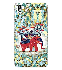 PrintDhaba Elephant design D-2590 Back Case Cover for HTC DESIRE 816 (Multi-Coloured)