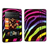 Amazon Kindle Fire HD 7 inch Tablet Decal Vinyl Skin – Rainbow Zebra By Skinguardz
