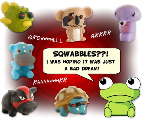 BARNYARD MANIA - Complete Set of 5 SUPER RARE SQWABBLES Squishies W/ GAME CODES FOR SQWISHLAND WEBSITE