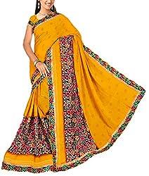 Kartik Fashion Women's Georgette Saree - K-92(1)_Multi-Coloured