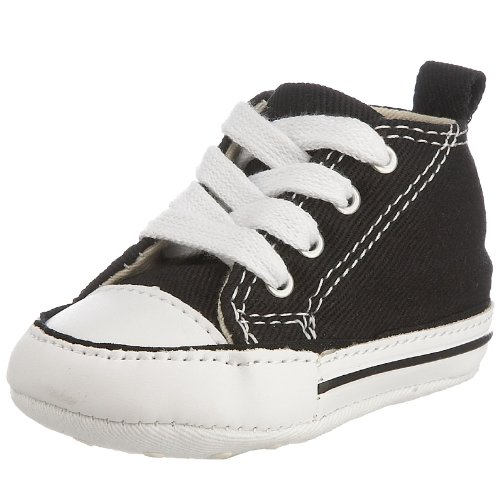 Converse Baby Boy's Chuck Taylor First Star HI (Infant) - Black/White - 3 Infant