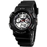 Panegy キッズ腕時計 学生用 スポーツ腕時計 デジタル表示 多機能ウォッチ 旅行 お出かけ 通学(ブラック) ランキングお取り寄せ
