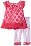 Little Lass Baby Girls' Daisy Pattern Top with Legging Set