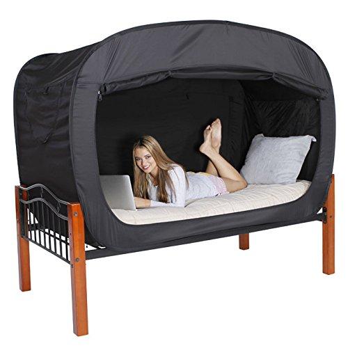 プライバシー・ポップのベッドテント (フルサイズ) - ブラック (並行輸入)