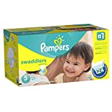 Pampers Swaddlers Diapers Size 5 Economy Pack Plus 124 Count (One Month Supply)