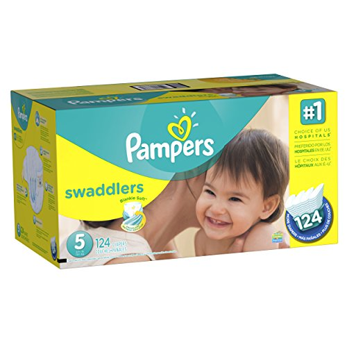 Pampers Swaddlers Diapers Size-5 Economy Pack Plus, 124-Count- Packaging May Vary