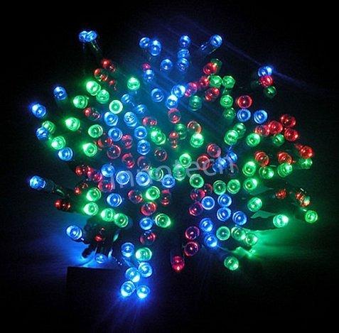 Aleko Solar Powered 35-Foot Holiday String Lights, 100 Led Multicolor