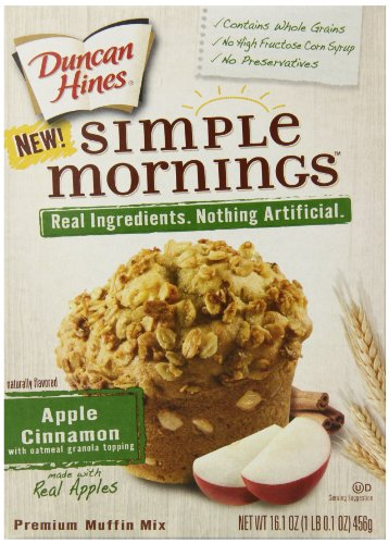 Duncan Hines Simple Mornings Muffin Mix, Apple Cinnamon, 16.1 Ounce (Pack of 12) (Simple Mornings Muffin Mix compare prices)
