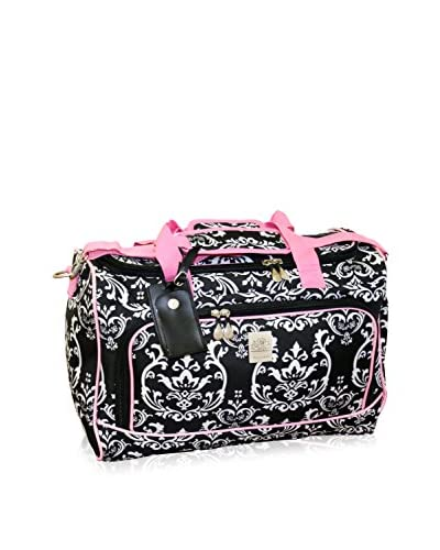 Jenni Chan Damask City Duffel, Black/Pink