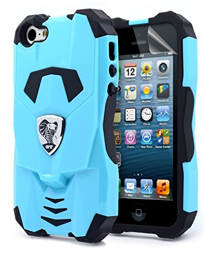 NageBee 6mm Polycarbonate Licensed Platinum Collection Cobra GT Series Case for Apple iPhone 5/5S, Cobra GT Blue (Iphone 5 Platinum Case compare prices)
