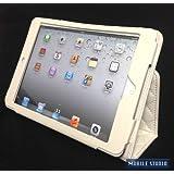 iPad miniキルティング PUレザー スタンド ケース 《全9色》ホワイト(白) [MOBILE STUDIO]