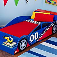 KidKraft Racecar Toddler Bed - 76040