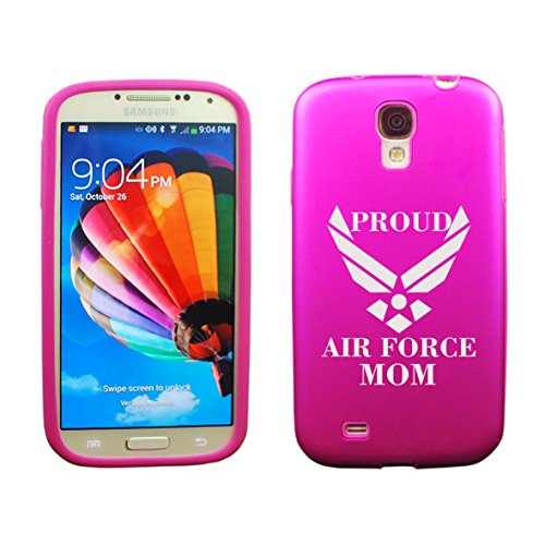 Samsung Galaxy S5 Aluminum & Silicone Case Proud Air Force Mom - Lifetime Warranty (Pink)
