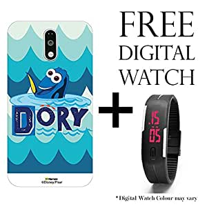 Hamee Disney Pixar Finding Dory Licensed Hard Back Case Cover For Xiaomi Redmi Note 3 Cover with Free Digital Watch - Combo 25