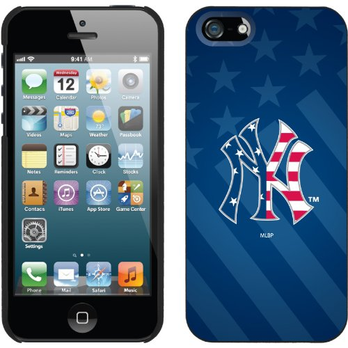 Special Sale New York Yankees - USA Blue design on a Black iPhone 5 Thinshield Snap-On Case by Coveroo