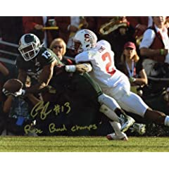 Bennie Fowler Michigan State Spartans NCAA Autograph 8x10 Photo Rose Bowl Tackle