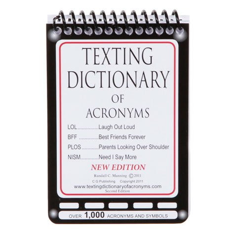 Texting Dictionary Of Acronyms - Pocket Size