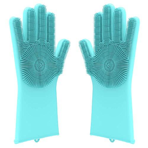 Desire Deluxe Magic Silicone Gloves Dishwashing Glove Scrubber for Washing Dish, Kitchen, Bathroom