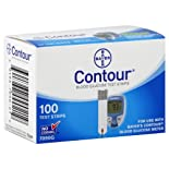 Bayer Contour Test Strips, Blood Glucose, 100 ct.