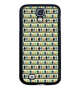 ifasho Animated Pattern colrful tribal design with small trees Back Case Cover for Samsung Galaxy S4