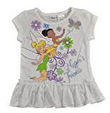 Disney Fairies Little Girls White Printed Top 2pc Pajama Set
