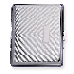 Amazon.com: Nickel-plated Diagonal Lines w/eng box Cigarette Case