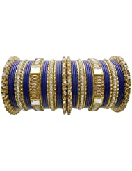 Blue Lac Bridal Chura Wedding Bangles Set By My Design(size-2.8)