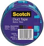 Scotch Duct Tape, 910-VTL-CA, 1.88-Inchx10-Yard, 48mmx9, 14m, Violet Tiles