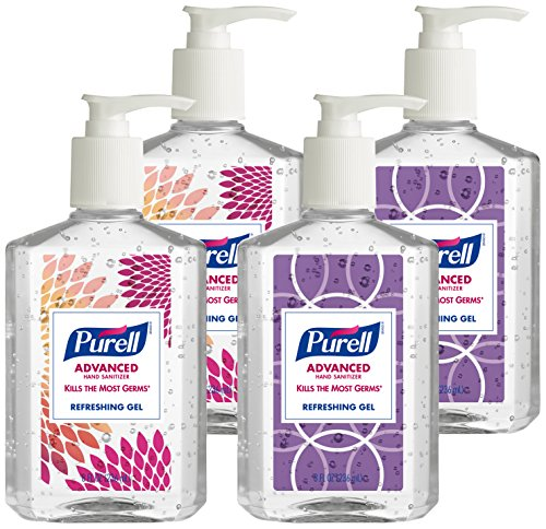 Purell 9652-04-ECDECO Advanced  Design Series Hand Sanitizer, 8 oz Bottles (Pack of 4)