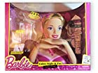 Barbie Deluxe Color, Style & Cut Styling Head (Blonde Barbie Syling Head & 19 Pieces)